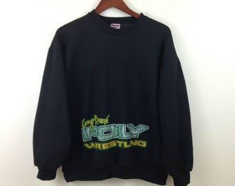 Vintage Long Beach Poly Wrestling Sweatshirt - Size Medium / Large - USA Made