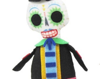 Polyester Day of the Dead Skeleton Doll
