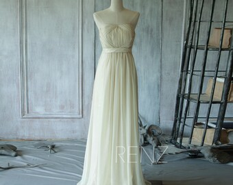 Beige Bridesmaid Dress, Sweetheart Elegant Dress, Strapless Wedding Dress, Long Formal Dress, Prom Dress Knee Length ( T103)