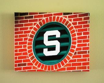 MSU Brick S 11x14 Gallery Canvas Wrap