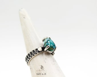 Final sale Size 6.25, Opal WarBoy // Sterling Silver ring, by BellaLili, Welded Silversmith