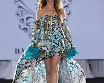 Off the Shoulders Maxi Dress/ Long Sleeve Dress/ Dresses for Women/ Formal Evening Dress/ Long Evening Gown/ Lace Asymmetrical  Dress