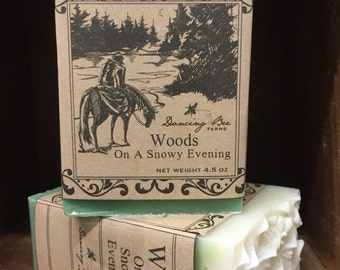 Woods on a Snowy Evening Soap