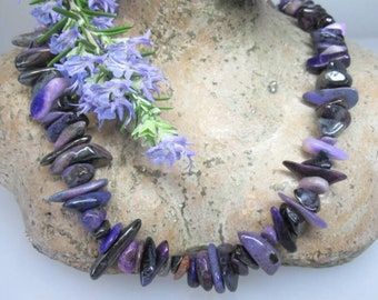 Genuine natural sugilite in purple nuggets/model B