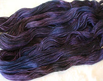 PICK YOUR BASE, All new bases added, Variegated, Hand Dyed, Color - Midnight Rendezvous