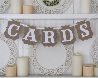 CARDS Banner, Wedding Cards Sign, Wedding Decoration, Party Decoration, Cards Sign