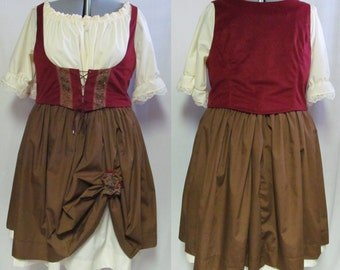 Medieval Rennaisance Faire Barmaid LARP Costume Adult Women's Size 4 6 8 10 12 14