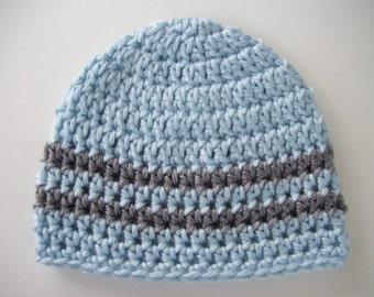 Toddler Boy Hat, Ready to Ship, Crochet Baby Hat, Baby Boy Hat, Children's Hat, Newborn Photo Prop, Winter Hat, Baby Shower Gift, Baby Boy