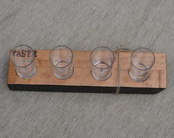 Beer flight tasting board, beer lover, craft beer, hand crafted, great gift