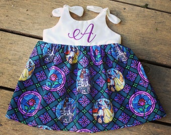 Beauty and the Beast dress, Disney Dress, Disney inspired outfit, baby dress, Princess Belle, Birthday Dress, coming home outfit
