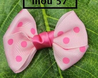 Pretty bows Ribbon pale pink, pink Satin appliques
