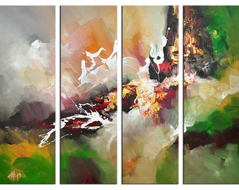 """Acrylic, abstract painting, Original Art by GH: """"FARBWIESE II"""", Gallery of modern & contemporary  Art The Artmakers"""