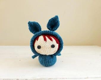Mini Bunny Baby Delaney, cute stuffed animal, bunny stuffed animal, Baby doll