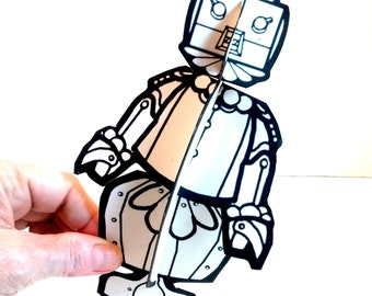 Rosie the Robot Paper Doll - Printable Toy