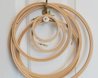 """Embroidery hoop, 25cm (10""""), wooden hoop"""