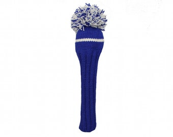 Blue and White Driver Golf Headcover