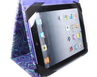 iPad cover with stand - MADE to ORDER - blue and purple paisley ipad case - women's gadget tablet accessory