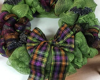 Multi Color Halloween Wreath