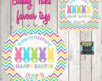 BUNNY TAILS favor tags - 2, 2.5 or 3 inch - YOU Print