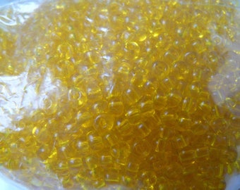 Yellow 5mm seed beads