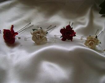 Wild Rose Hairpin -  Bridesmaid - Evening - Prom