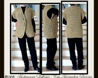 CROCHET PATTERN, Outdoor Cardigan Sweater, Child, Teens, Women, #1005J, crochet for women, crochet for children, crochet poncho vest