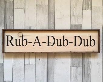 Bath Sign, Bathroom Decor, Farmhouse Sign, Farmouse Decor, Rustic Sign, Rustic Decor