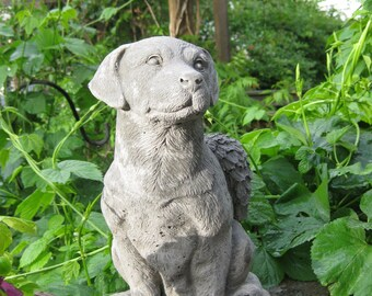 Labrador Retriever with Angel Wings Dog Statue (Large) (Shipping for West of the Mississippi River)