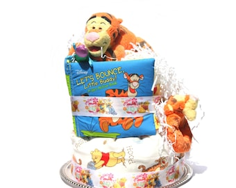 Tigger Diaper Cake - Disney Baby Shower - Tiger Baby Shower