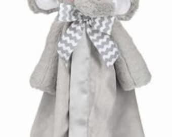 Personalized Lil Spout Elephant Snuggler Blanket