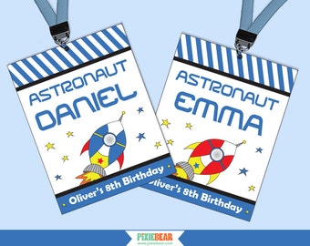Space Birthday - Astronaut Party Badges - Rocket Party - Astronaut Birthday - Space Party - Rocket Birthday - Outer Space (Instant Download)