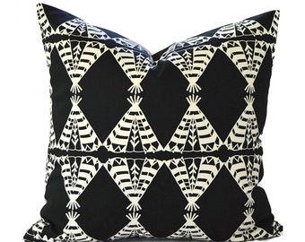 Black Pillow Covers ANY SIZE Decorative Pillows Pillow Inserts Best Pillow Floor Pillows Euro Pillows Premier Prints Pow Wow Black