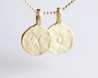 Additional Gold Initial Circle - single add-on initial, personalized letter gift