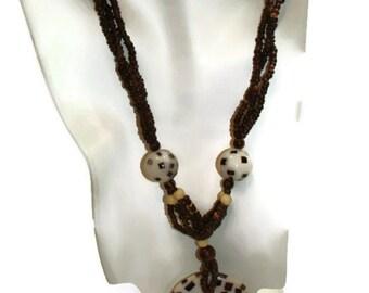 Vintage Tribal Pendant Necklace