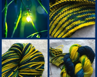 Lampyridae Handpainted Sock Yarn