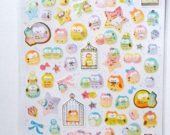 Kawaii Japanese Stickers - Cute Owls -