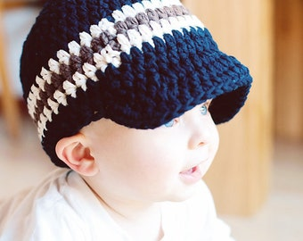 30 Colors Toddler Boy Hat 1T to 2T Toddler Hat Crochet Hat Cotton Hat Striped Toddler Boy Clothes Design Your Own Hat Toddler Boy Cap