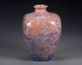 Ceramic Vase - Multicolored- Crystalline Glaze on High-Fired Porcelain - Hand Made Pottery - FREE SHIPPING - #B-1-3707