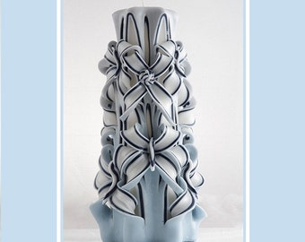 Carved Candle - Pillar Candle - Decorative candle - Perfect Gift