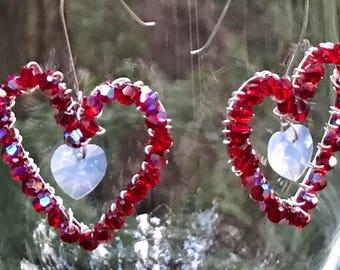Lovely Valentine Heart Earrings