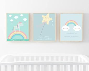 Wall print Magic is everywhere - kids room decor