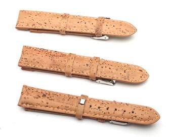 Natural cork watch strap handmade Portuguese original vegan strap 14mm 16mm 18mm 20mm 22mm  24mm watch Bands 911