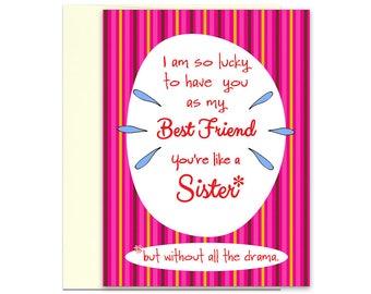 Funny Best Friend Card - Best Friends Day - Best Friend Birthday Card - Friend Card - Funny Birthday - Birthday Greetings - Birthday Card
