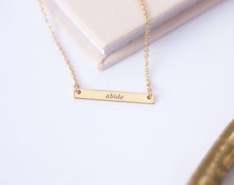 Abide Necklace