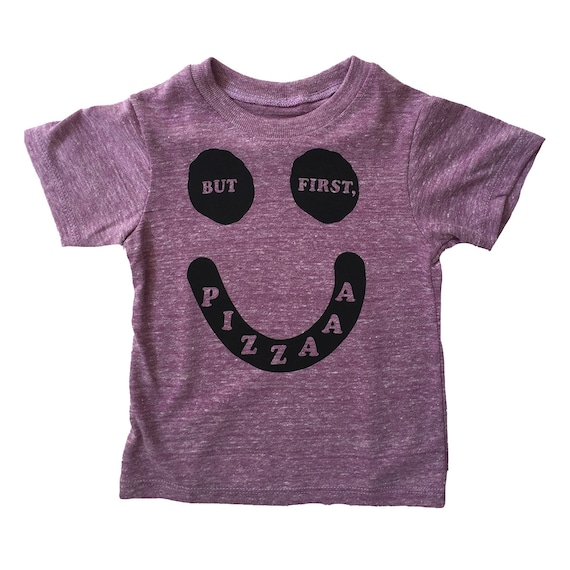 BUT FIRST PIZZA - Toddler Tee - Purple