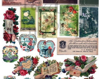 Valentine Stuff Number 3 Digital Download Collage Sheet