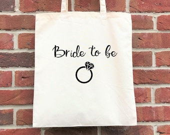 Bride to be wedding tote bag, perfect for a hen party/bachelorette/bridal shower or a bridal party gift