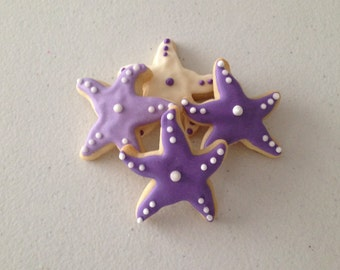 2 dozen Mini Starfish Sugar Cookies