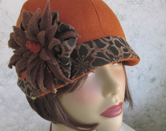 Womens Hat Pattern Flapper Style Brimmed With Flower Trim PDF Easy To Make Instant Download