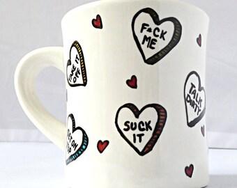 Valentines Day, naughty valentine gift for boyfriend, girlfriend, husband, funny valentine, romantic valentine gift, conversation heart, sex